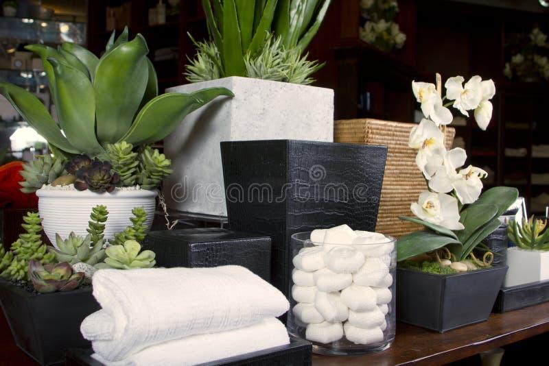 Casa e memoria del boutique del bagno fotografia stock