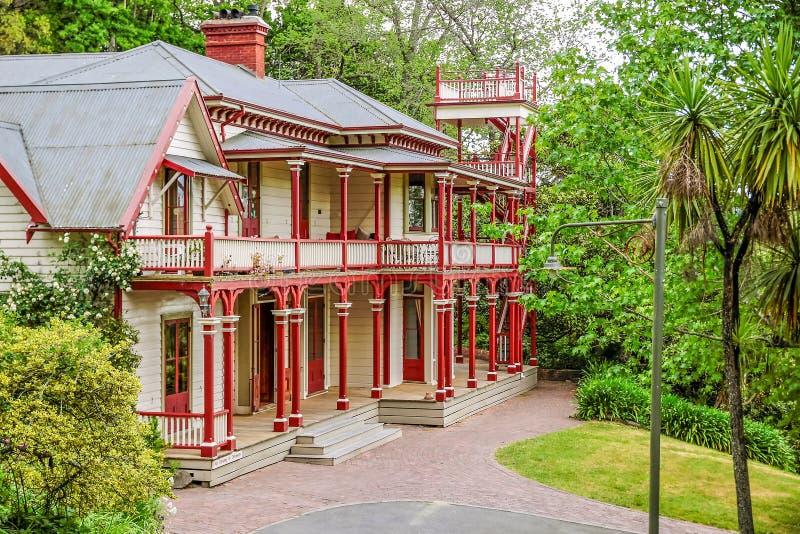 Casa e parque de Fairfield perto de Nelson imagens de stock