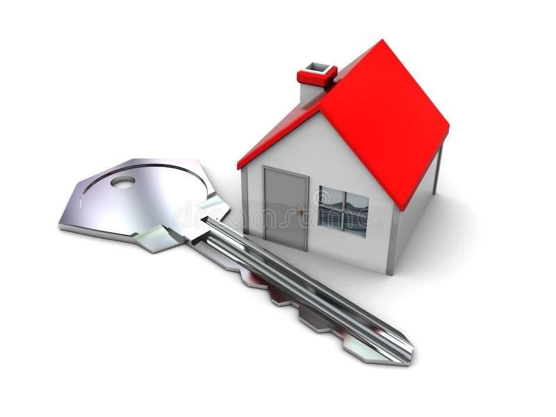 Casa e tasto illustrazione vettoriale