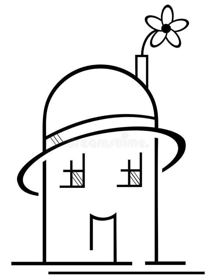Casa ecológica stock de ilustración