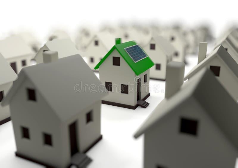 Casa efficiente di energia per i risparmi l'ambiente di mondo royalty illustrazione gratis