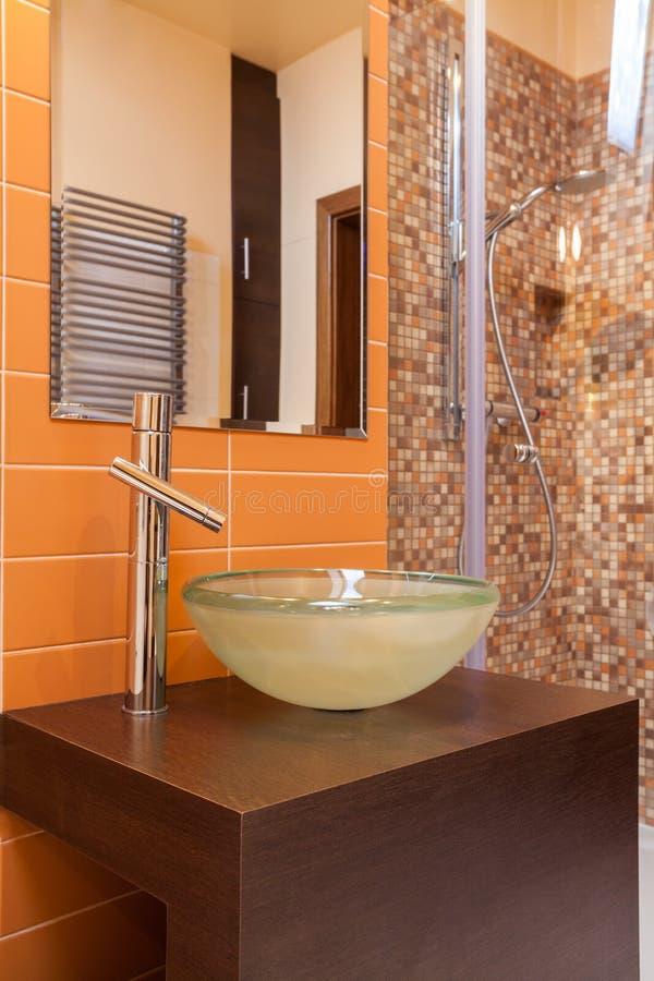Casa elegante - eguipment do banheiro imagem de stock