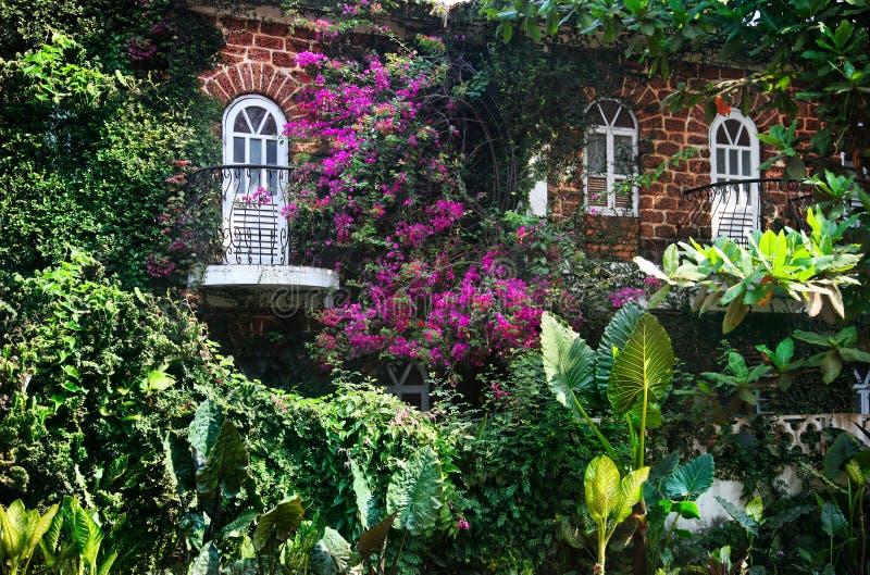 Casa em Goa fotos de stock