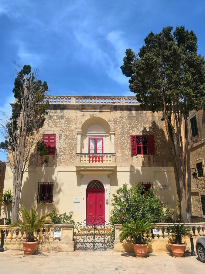 Casa em Malta, Mdina fotografia de stock