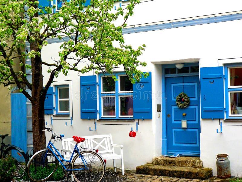 Casa em Noerdlingen Alemanha fotos de stock