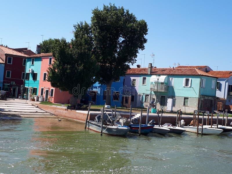casa em Veneza na excursão do barco fotografia de stock