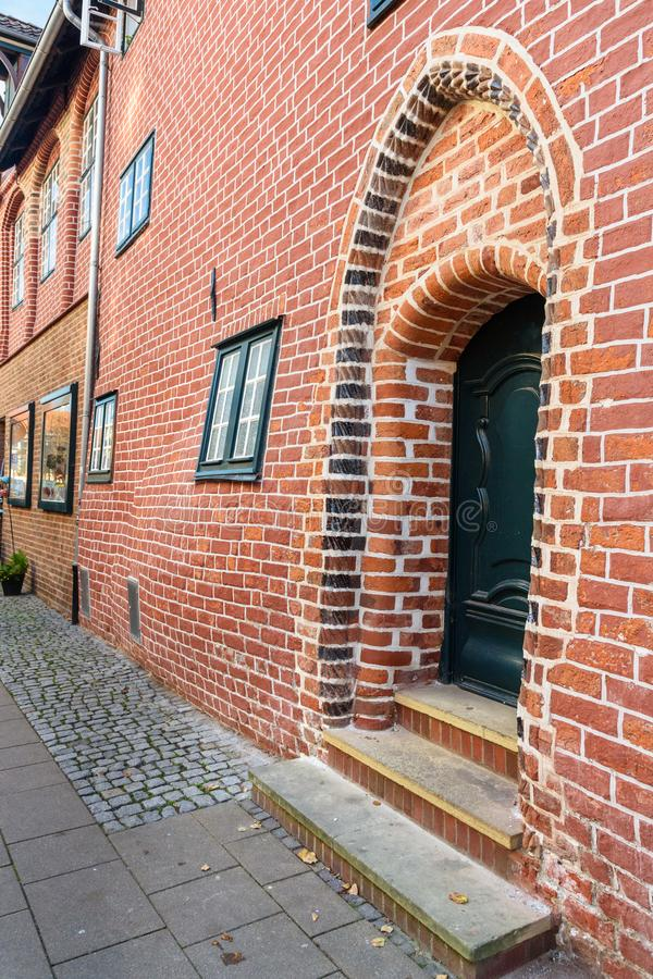 Casa embarazada o Das Schwangere Haus en Luneburg alemania imagenes de archivo