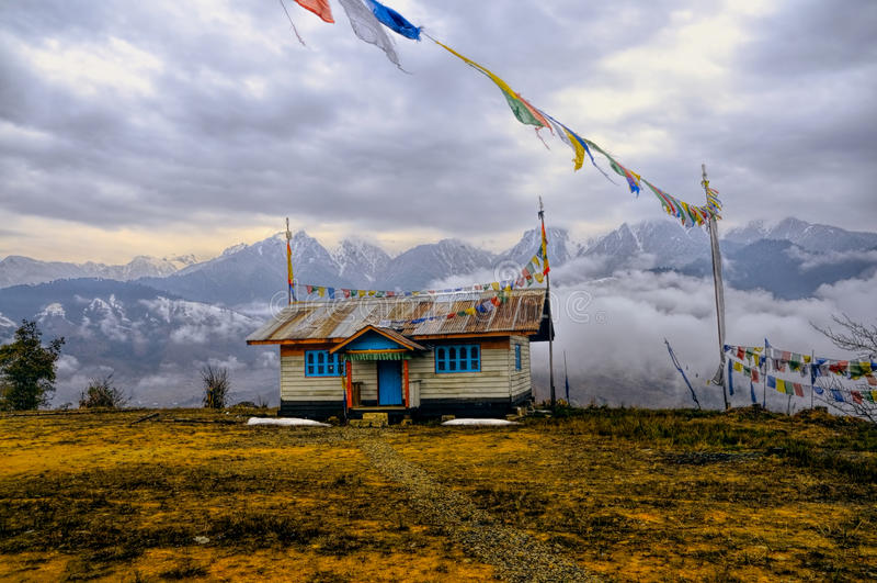Casa en Arunachal Pradesh imagen de archivo libre de regalías
