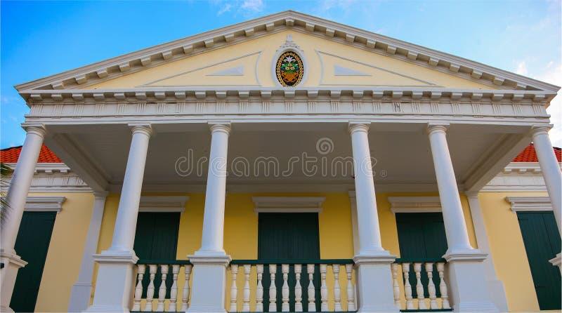 Casa en Curaçao foto de archivo