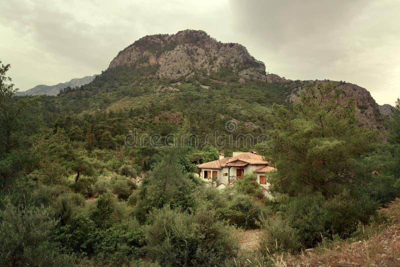 Casa en el bosque foto de archivo libre de regalías