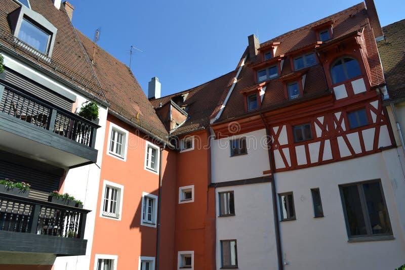 Casa en el centro de Nuremberg imagen de archivo