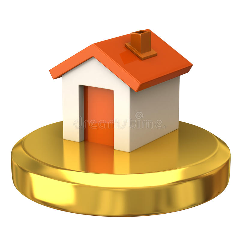 Casa en el podium del oro libre illustration
