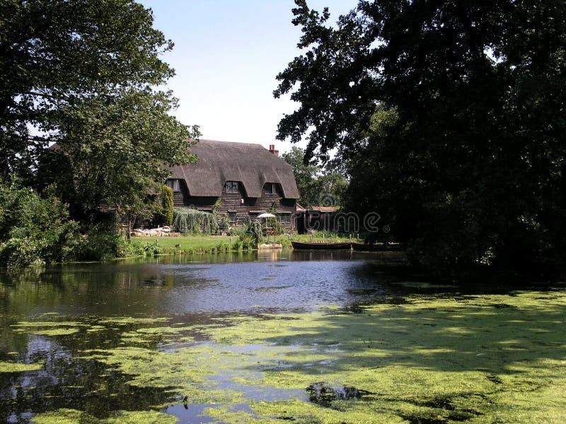 Casa en Flatford foto de archivo