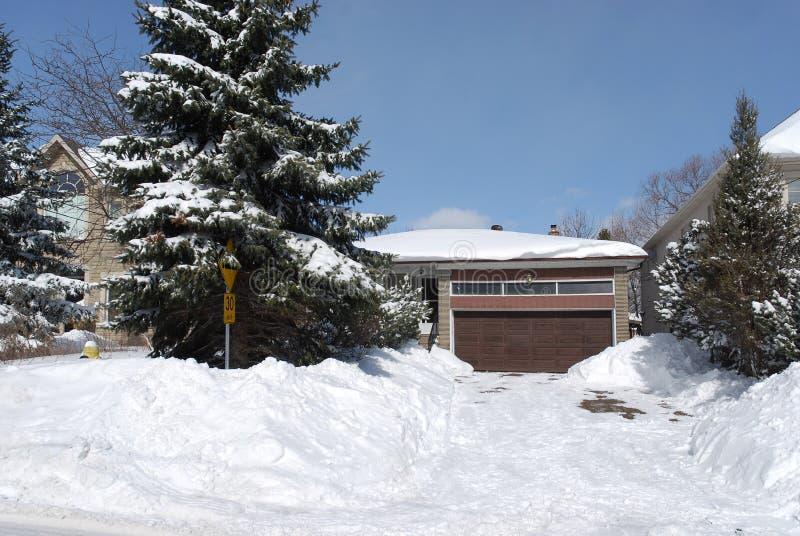 Download Casa En Invierno Con Los árboles De Pino Imagen de archivo - Imagen de invierno, tormenta: 7280195