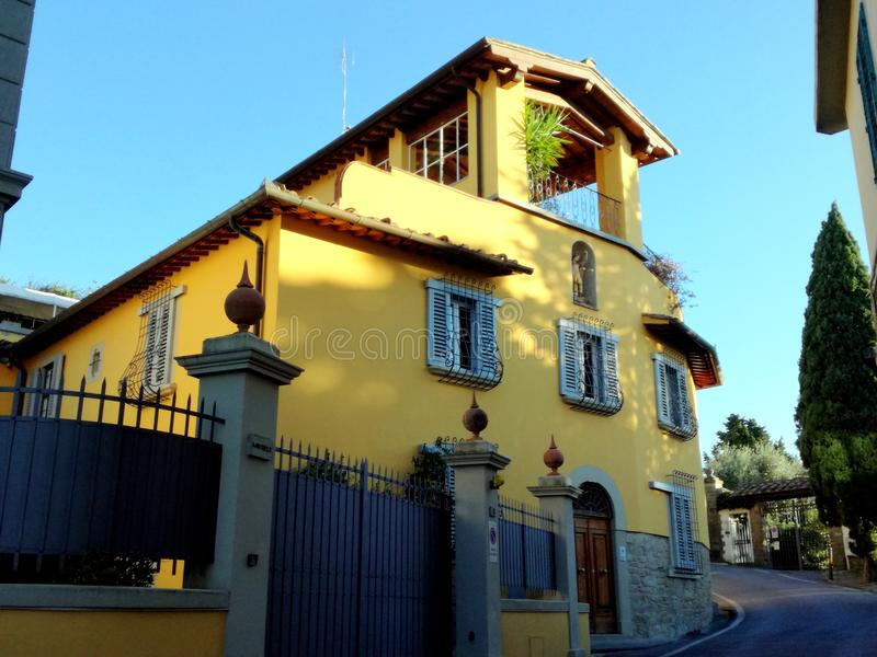 Casa en Italia, Florencia, área de Fiesole foto de archivo