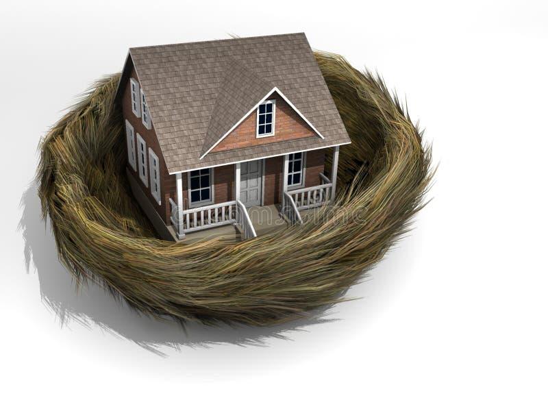 Casa en jerarquía stock de ilustración