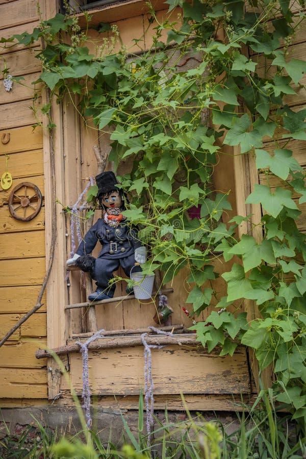 Casa en Kuldiga, Letonia imagen de archivo
