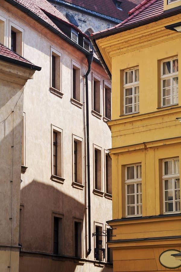 Casa en la ciudad vieja de Praga fotografía de archivo