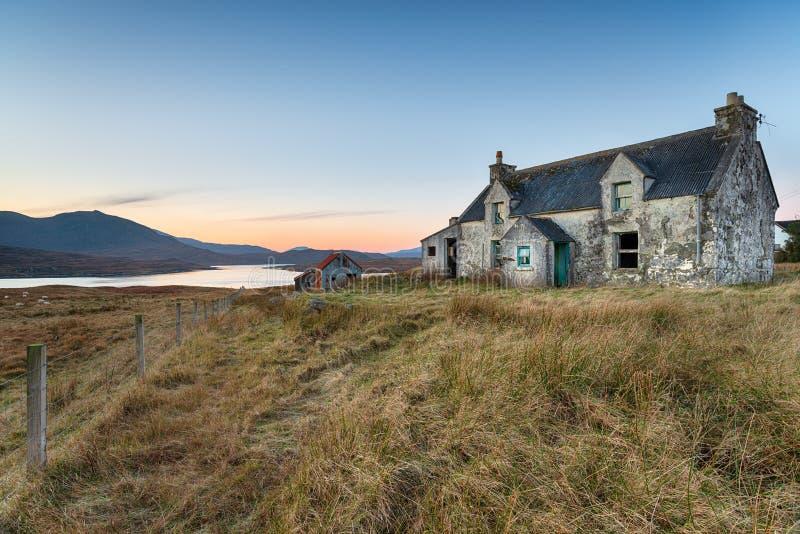 Casa en la isla de Lewis fotografía de archivo
