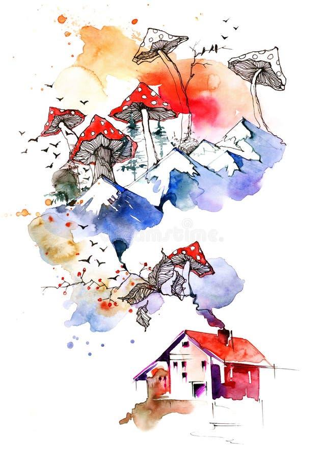 Casa en las cercanías libre illustration