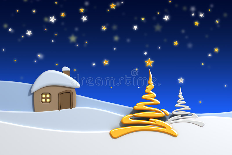 Casa en montaña de la nieve libre illustration