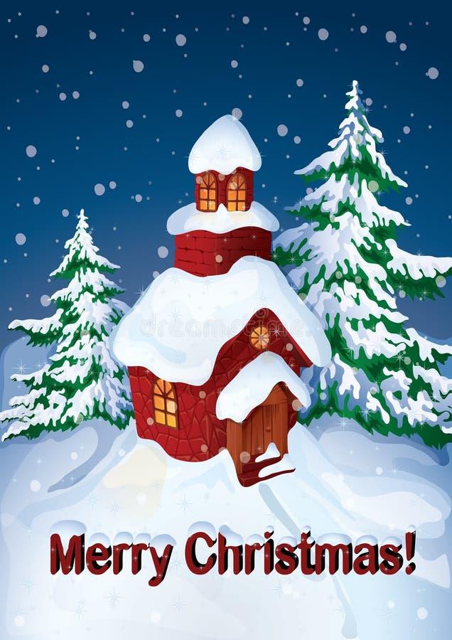 Casa en nieve libre illustration