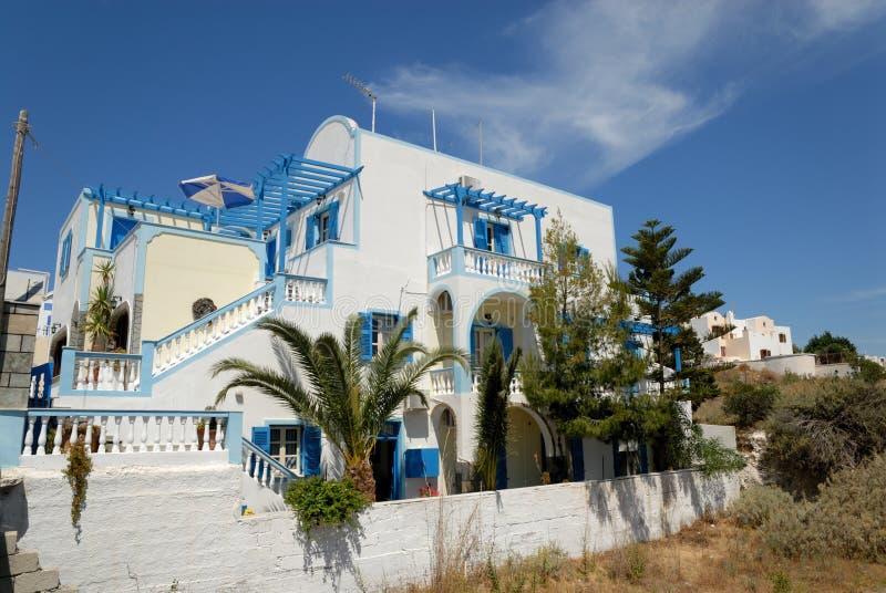 Casa en Thira, Grecia imágenes de archivo libres de regalías