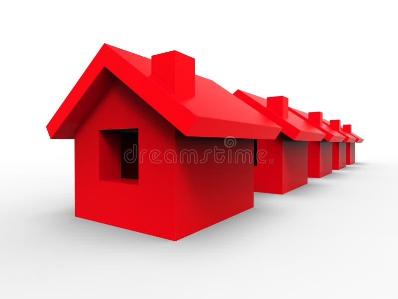 Casa en una fila libre illustration