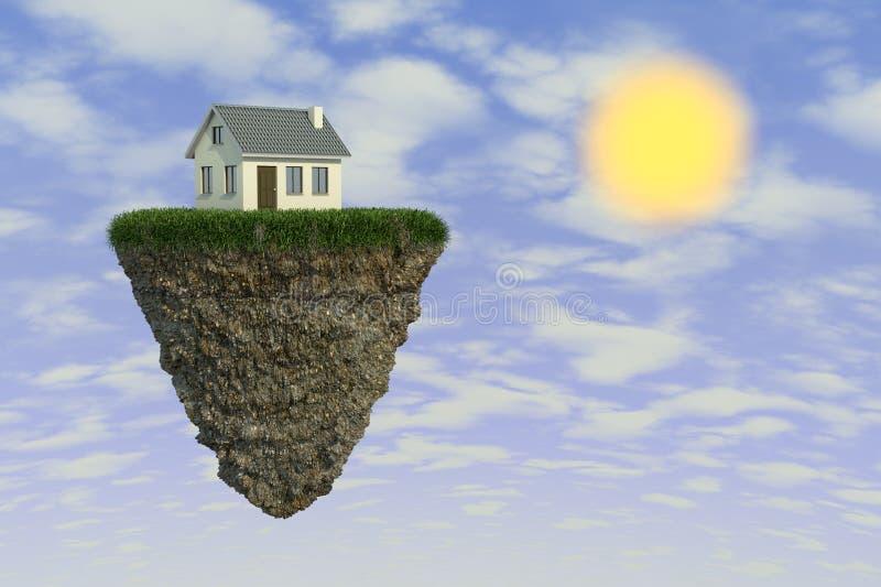 Casa en una roca ilustración del vector