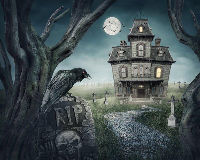Casa encantada ilustración del vector