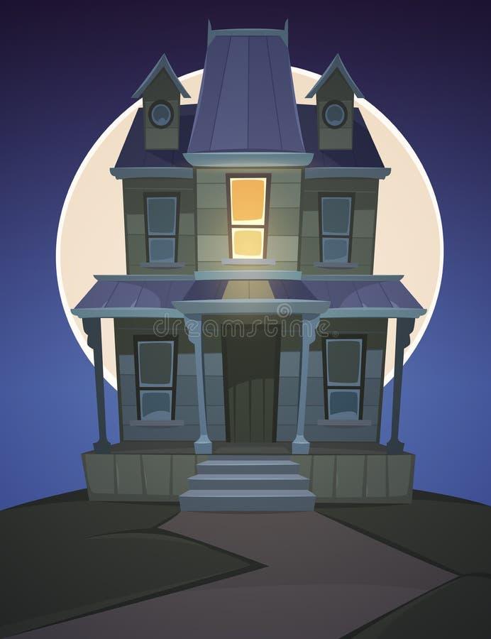 Casa encantada de la historieta ilustración del vector