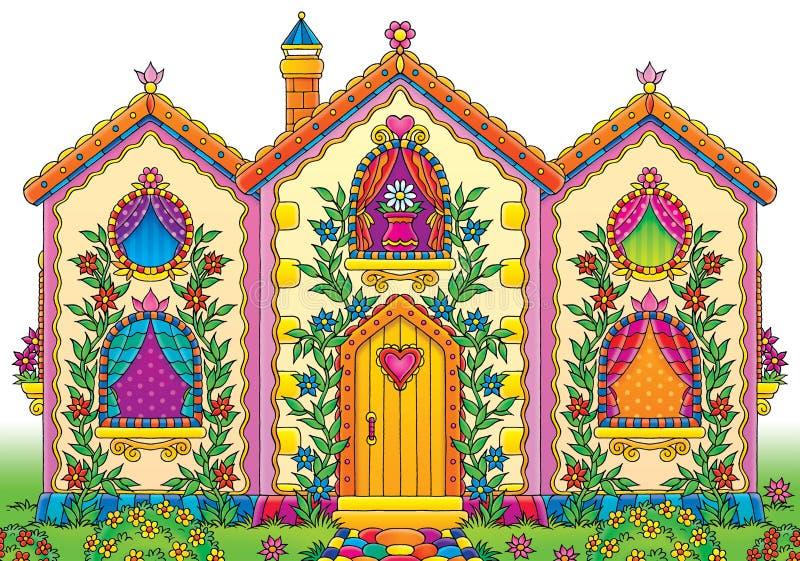 Casa engraçada ilustração do vetor