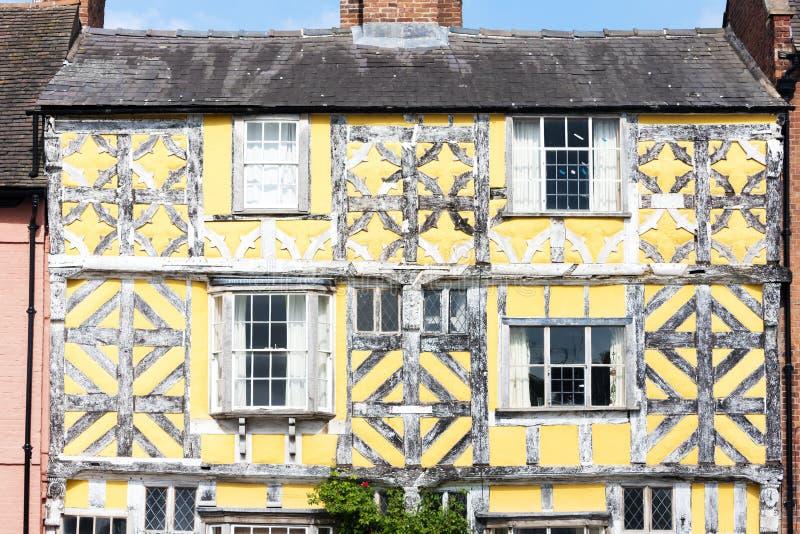 casa enmaderada mitad, Ludlow, Shropshire, Inglaterra foto de archivo