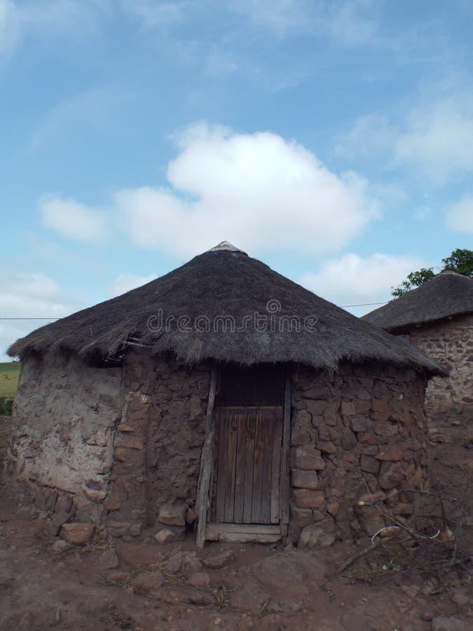 Casa Eshowe Suráfrica de la choza imagen de archivo