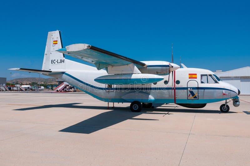 CASA espanhola C-212 da fiscalização da alfândega do Ministério das Finanças foto de stock