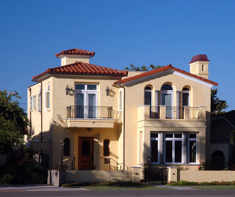 Casa espanhola do estilo foto de stock royalty free