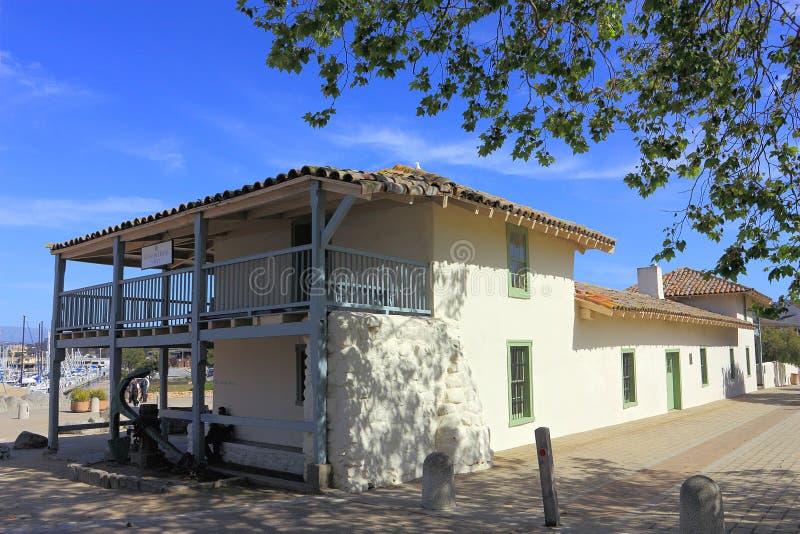 Casa espanhola histórica de alfândega em Monterey, Califórnia imagens de stock royalty free