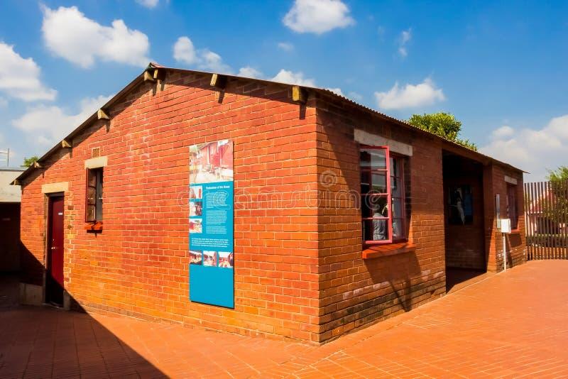 Casa exterior do ` s de Nelson Mandela na rua Soweto de Vilakazi imagem de stock royalty free
