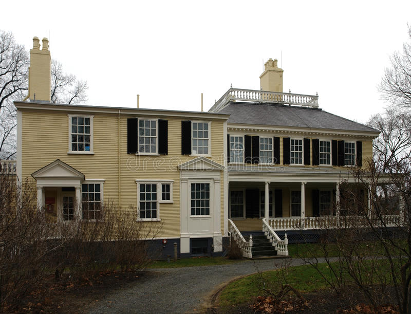 A casa famosa de Longfellow imagem de stock