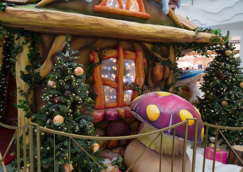 Casa feericamente do Natal imagens de stock