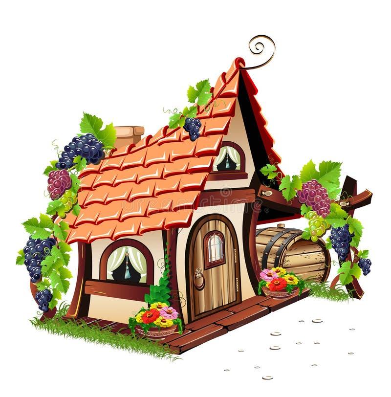 Casa feericamente pequena ilustração royalty free