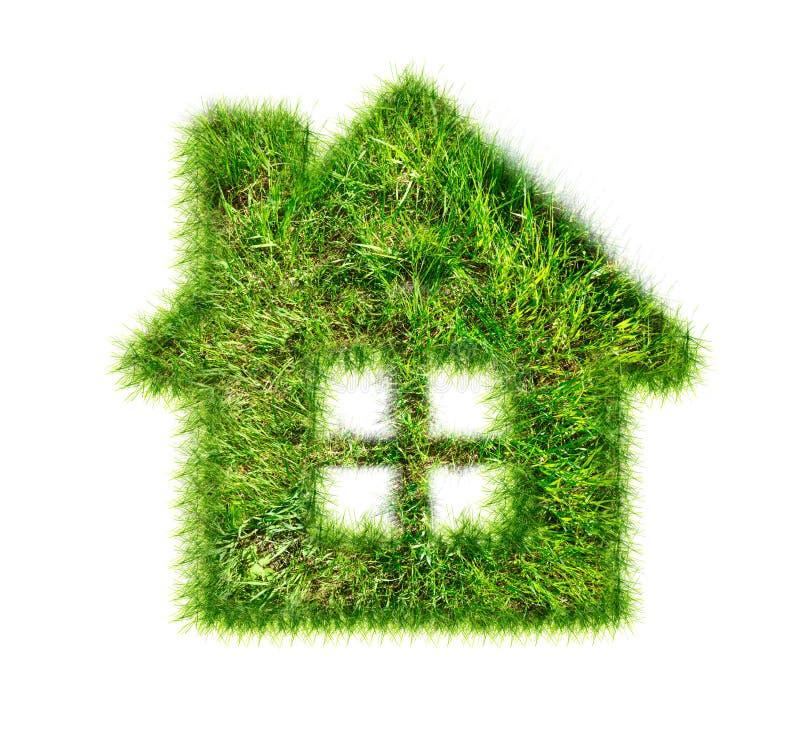 Casa feita da grama verde ilustração stock