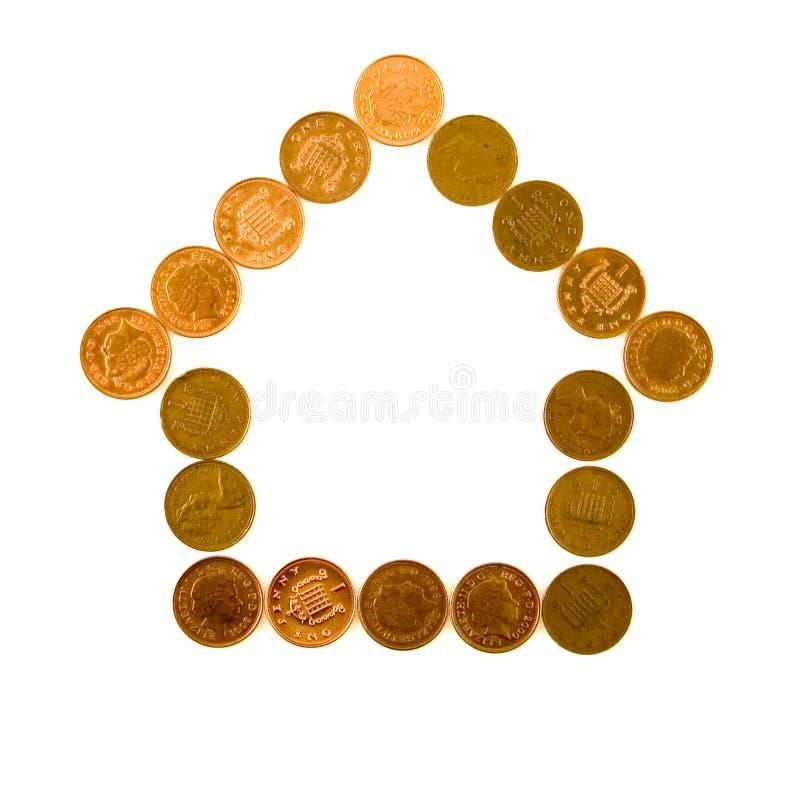 Casa feita das moedas fotos de stock royalty free