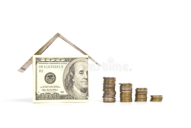 Casa feita do dinheiro imagem de stock royalty free