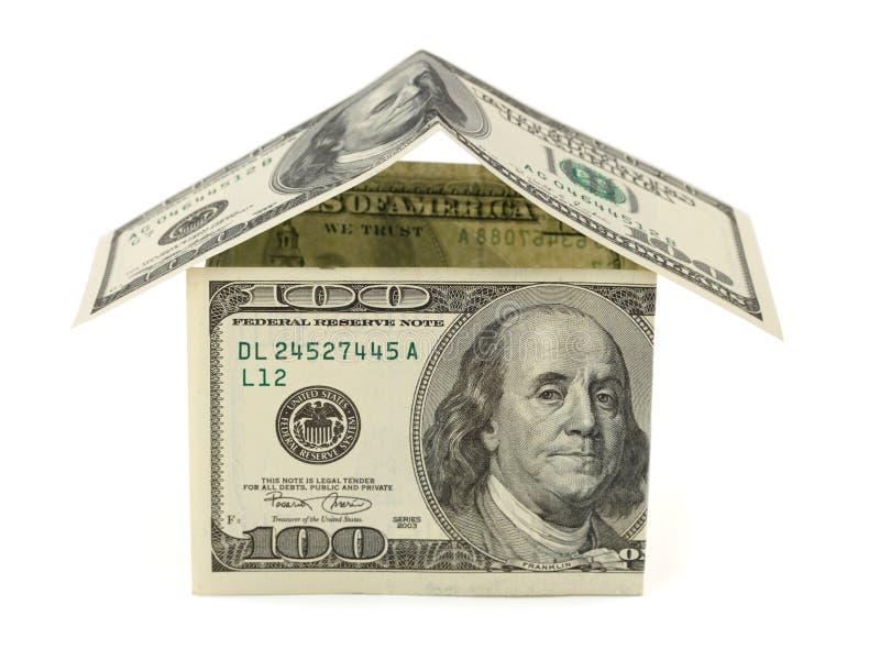 Casa feita do dinheiro imagens de stock royalty free