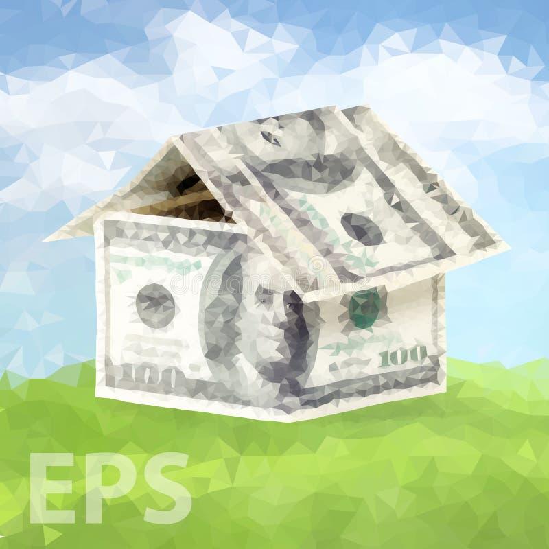 Casa feita do dinheiro 02 [convertido] ilustração royalty free