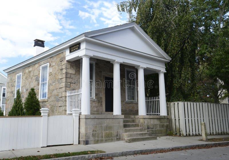 Casa feita sob encomenda em Stonington Connecticut foto de stock