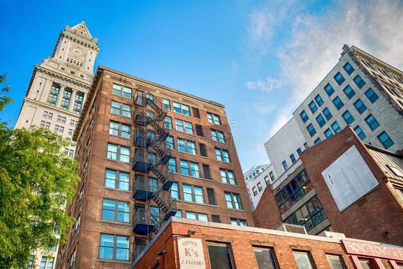 A casa feita sob encomenda famosa de Boston no Estados Unidos imagem de stock