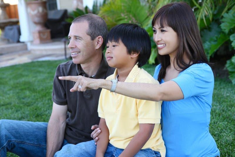 casa felice della famiglia immagine stock