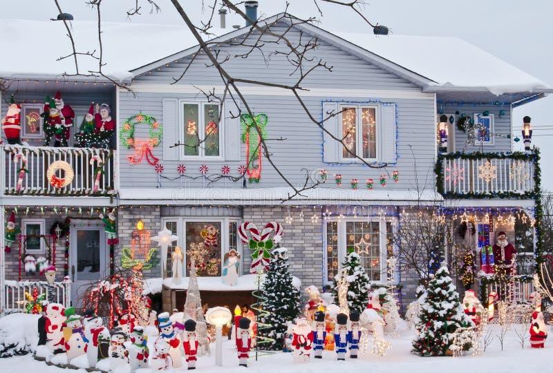 Casa festiva immagine stock